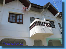 Balcony on the house for sale in Cha-Am with mountain view